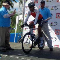 Tyler Cole starting his TT